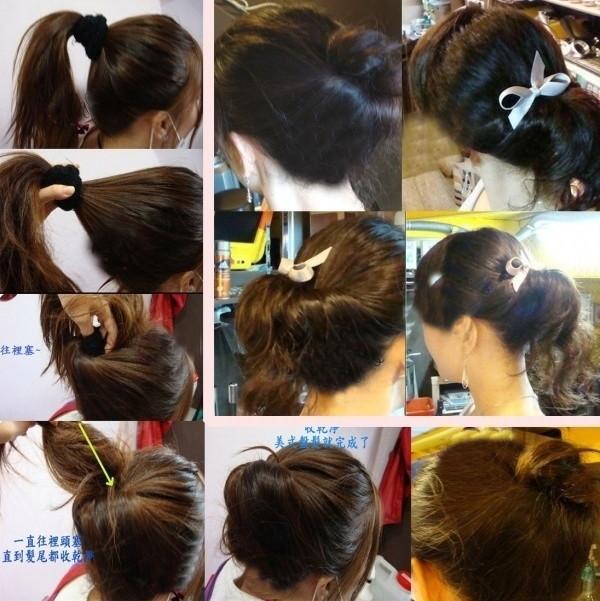 盘头发的40种方法 你会几种?(四十)