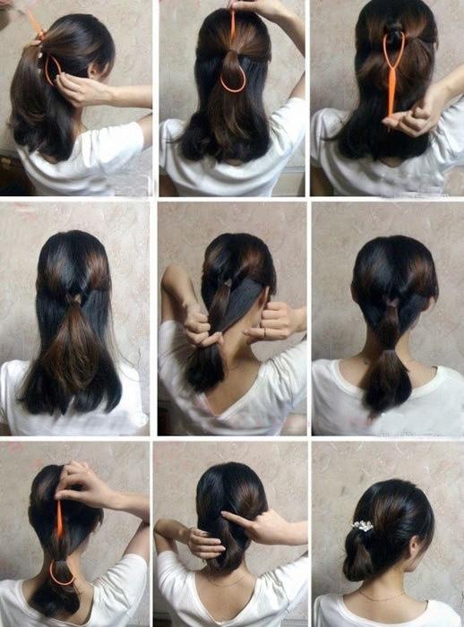 盘头发的40种方法 你会几种?(六)