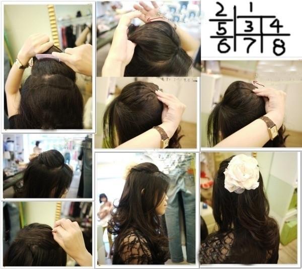 盘头发的40种方法 你会几种?(九)